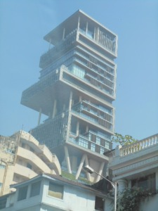 Antilia, the home of Mukesh Ambani