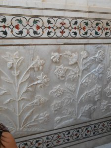marble inlay at Taj Mahal