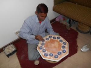 marble worker, Agra