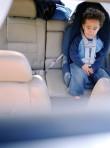 interracial child in car seat