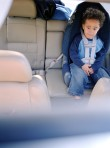 interracial child in car seat