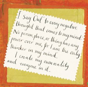 Louise Hay fight negativity