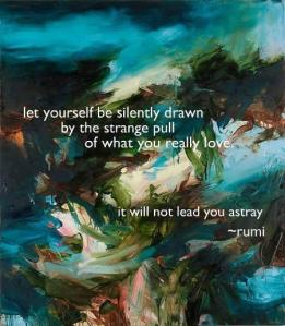 Buddha Board's Rumi quote